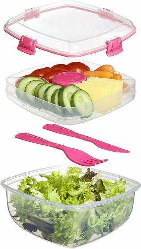 Sistema To Lunch Salad Storage 37 oz./1 L, Colors