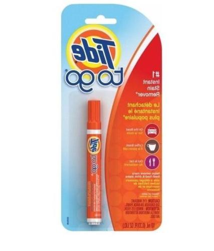 Tide To Go Pen Instant Stain Remover Travel Coffee Break Res