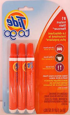 Tide To Go Stain Remover Pens 3 sticks