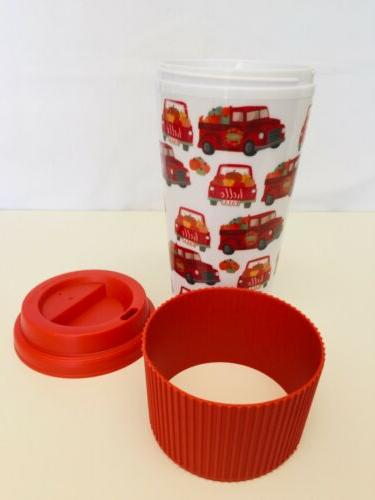 TRAVEL GO MUG WITH TRUCK WITH PUMPKINS NEW
