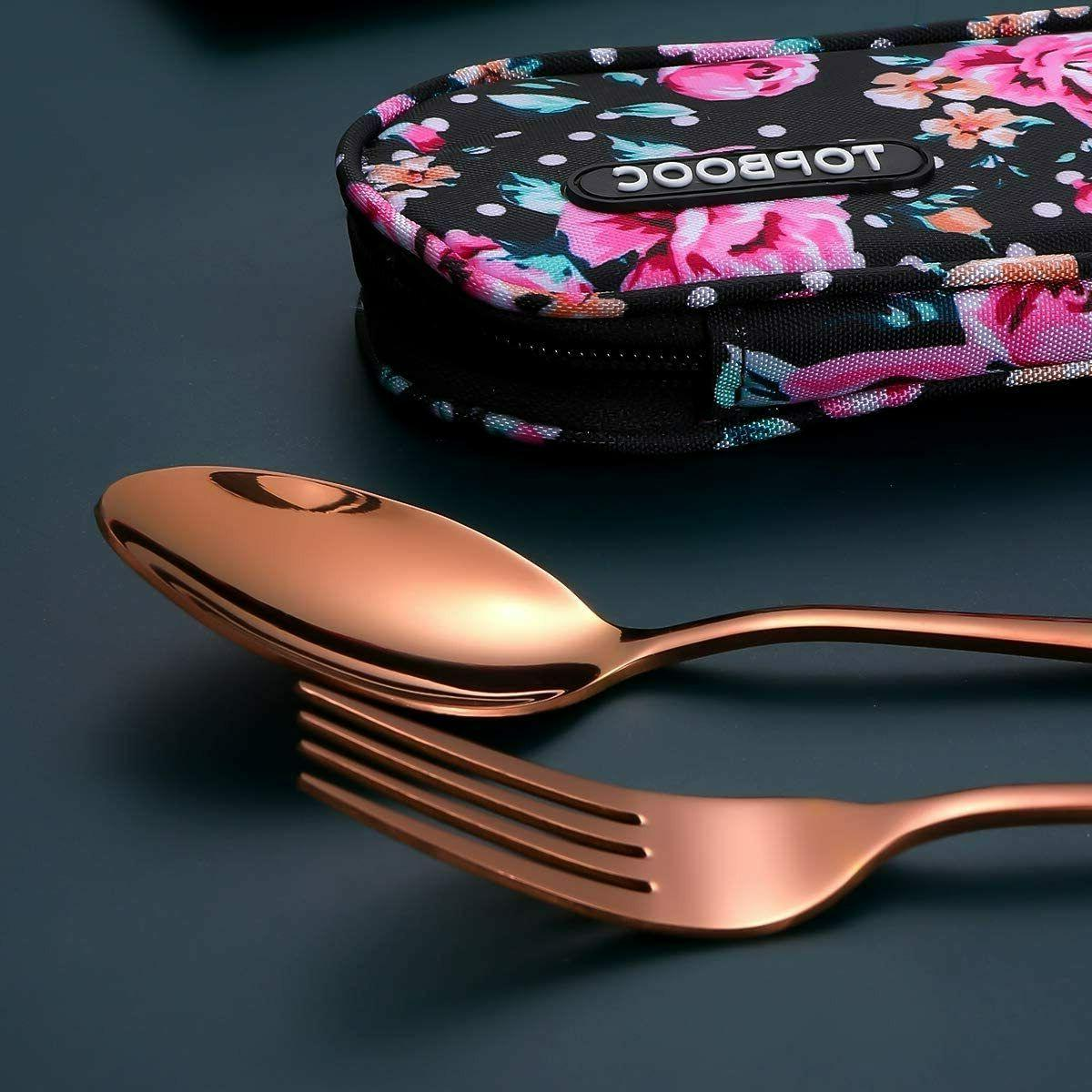 Travel Utensils,Reusable Set To Set with