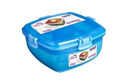 Sistema Lunch Salad To Go Container, 37.1 oz, Blue - Food So
