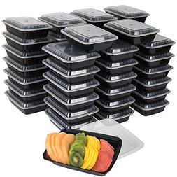 50-Pack meal prep Plastic Microwavable Food Containers for m