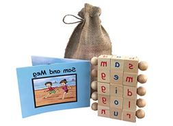Montessori Phonetic Letter Blocks for Reading and Early Lear