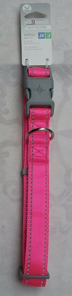 NEW GOOD TO GO ADJUSTABLE REFLECTIVE COLLAR, FLUORESCENT PIN