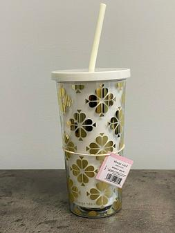 NEW Kate Spade 20oz Insulated Daisy Lace Flower Tumbler Trav