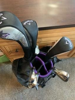 NEW Callaway XJ Hot  Purple 8 Piece Junior Complete Golf Set