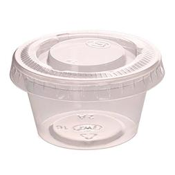 Zicome 2-Ounce Plastic Disposable Portion Cups Souffle Cups
