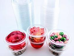 2oz Portion Cups with Lids, LIDS FIT GREAT Jello Shot Cups S