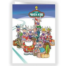 Ready To Go Golf Cute Holiday Card- 18 Cards & Envelopes - 1