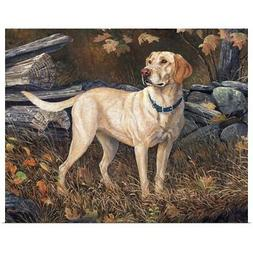 Ready to go Yellow Labs Poster Art Print, Dog Home Decor