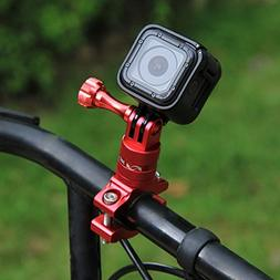 PULUZ 360 Degree Rotation Bicycle Bike Aluminum Handlebar Ad