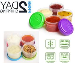 Salad Dressing Containers Small Leak Proof Lid Portable To g