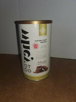 SEALED SOLGAR WHEY TO GO 16oz NATURAL CHOCOLATE EXP:01/22
