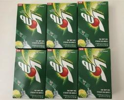 7UP Singles To Go Drink Mix Sugar Free 6 boxes  NEW LEMON LI