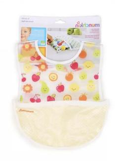 Munchkin To-Go Bib with Roll Up Pouch  Fruits & Polka Dots,