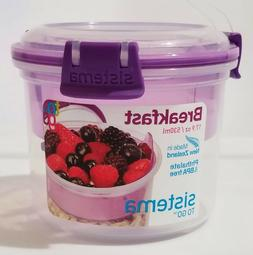 Sistema To Go Breakfast 17.9 Oz./ 530ml  Phthalate & BPA Fre