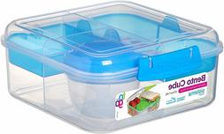 Sistema To Go Collection Bento Box Cube Plastic Lunch and Fo
