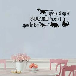 To Go To Sleep English Dinosaurs Wall Sticker Home Bedroom D