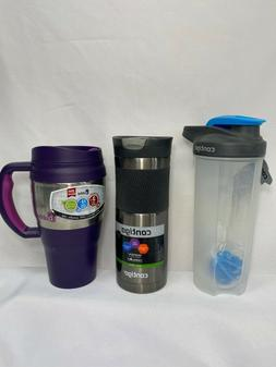 Travel Mug Water Bottle Coffee Cup To Go Refill Leak Proof