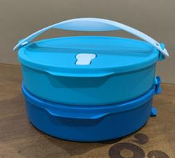 TUPPERWARE STACKABLE ROUND LUNCH CONTAINERS SET-CLICK TO GO