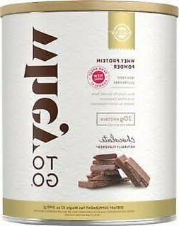 Whey To Go Protein Powder Natural Chocolate Flavor Solgar 41