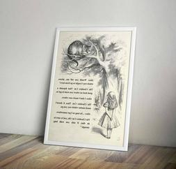 Which way I ought to go Alice in Wonderland Cheshire Cat Art
